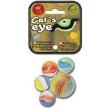 Cat's Eye Game Net Set 25 Piece Glass Mega Marbles Toy - 1