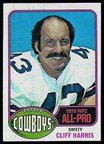 1976 Topps Regular (Football) Card# 260 Cliff Harris AP of the Dallas Cowboys VG Condition