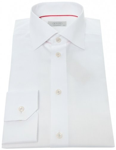 Eton Men's Shirt White Contemporary Fit Formal UK 15.5