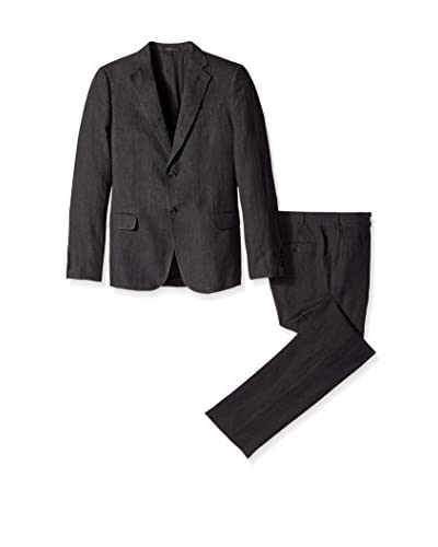 Armani Collezioni Men's Glen Plaid 2 Button Notch Lapel Suit