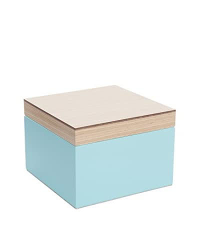 Wolf Designs Small Lacquer Wood Jewelry Box, Aqua