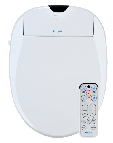 Brondell S1000-EW Swash 1000 Advanced Bidet Elongated Toilet Seat, White
