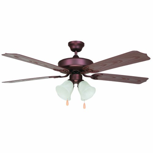 Yosemite Home Decor PATTERSON-ORB-4 52-Inch Outdoor Ceiling Fan with Light Kit, Oil Rubbed Bronze