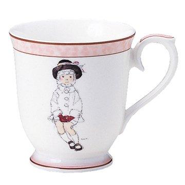 NARUMI(ナルミ) いわさきちひろ マグカップ(こげ茶色の帽子の少女) ボーンチャイナ 50673-2635