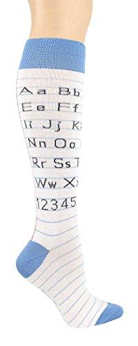 Foot Traffic Alphabet Tablet Knee High Socks