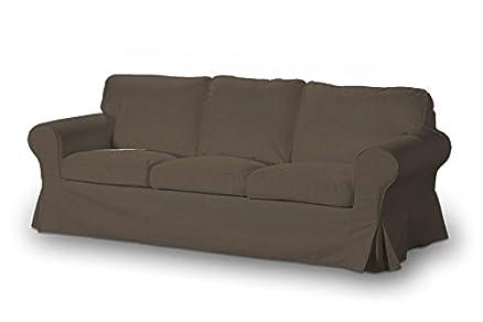 Dekoria 610-705-08 - Rivestimento per divano Ektorp a 3 posti, non richiudibile, Etna, colore marrone