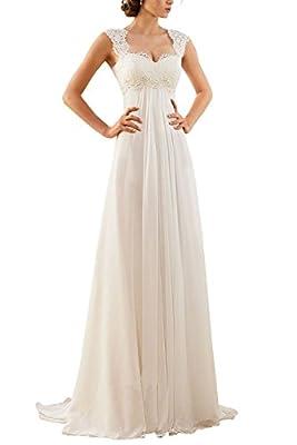 Erosebridal 2016 New Sleeveless Lace Chiffon Wedding Dress Bridal Gown