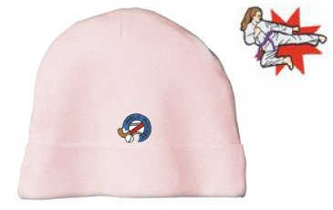 Embroidered Infant Rib Knit Beanie with the image of: female martial arts