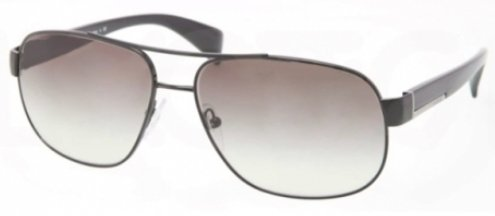 pradaPrada PR52PS Sunglasses-7AX/0A7 Black (Gray Gradient Lens)-61mm