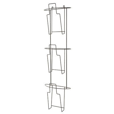 Buddy Products Wire Ware 3 Pocket Literature Holder, 3.5 x 32.75 x 9.5 Inches, Black (6316-4) (Wall Mountable Wire Shelf compare prices)