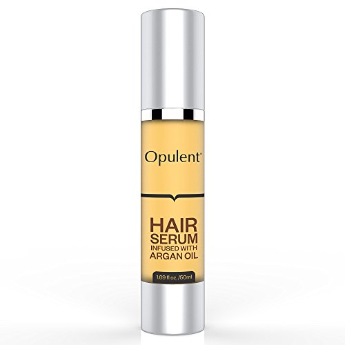 Best Hair Serum with Argan Oil + Vitamin E for Hair Treatment - Hair Serum for Frizzy Hair, Damaged Hair, Hair Loss, Curly Hair - Leave in Hair Conditioner for Healthy, Shiny Hair - 1.69 Fl Oz