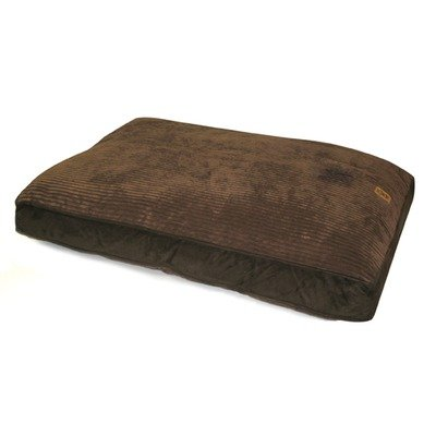Precision Pet Products Gusset Dog Floor Pillow, 30-Inch-by-40-Inch, Chocolate Suede-Wide Chenille