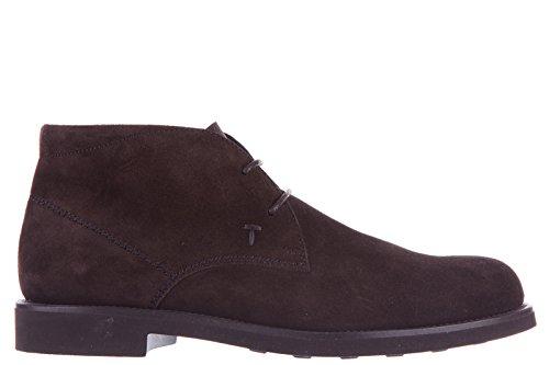 Tod's polacchine stivaletti scarpe uomo camoscio gomma light marrone EU 42.5 XXM0WP00D80RE0S800