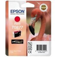 Epson T0877 Tintenpatrone Flamingo, Singlepack, rot