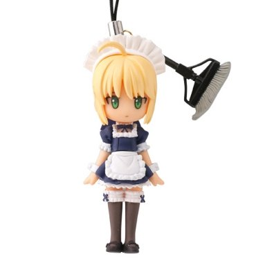 Fate / Stay Night Capsule -Q Fortune Figure Cell Phone Charm Strap ~ Saber Maid costume ~ Middle Luck - 1