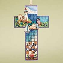 Jim Shore - Heartwood Creek - Seashore Cross Hanging Ornament by Enesco