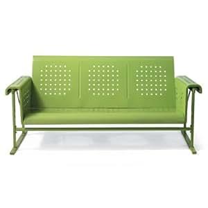 Retro squares outdoor glider outdoor sofa for Sofa exterior amazon
