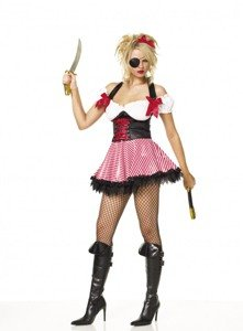 Pirate Wench Costume - Large - Dress Size 12-14