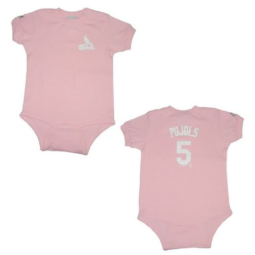 MLB St. Louis Cardinals Pujols #5 Baby One-Piece Romper / Onesie 24 Pink at Amazon.com