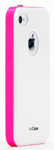 AirPlus AirCase Florescent Colour Hard Back Case Cover For Apple iPhone 4S/4 [WHITE FLORESENT PINK]