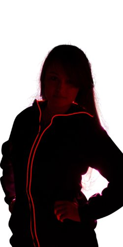 Light Up Hoodies By Electric Styles (Medium, Red)