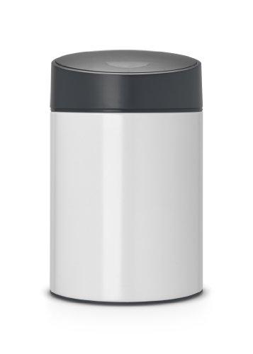 brabantia-483165-poubelle-slide-bin-acier-blanc-5-l-22-x-325-cm