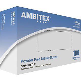 Ambitex Disposable Latex Powder Free Gloves (10 Boxes of 100, 1000 Total Gloves)