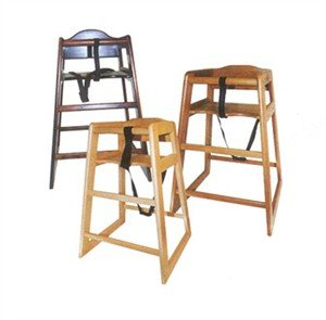 Cheap Winco CHH-104 Unassembled Wooden High Chair, Walnut