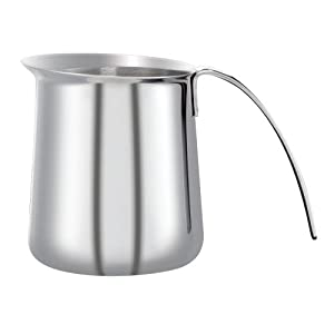 KRUPS XS5012 Stainless Steel Milk Frothing Pitcher, 12-Ounce, Silver