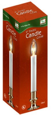 "(4) Ea Noma Holiday Wonderland 1519-88 9"" Clear Bulb Electric Window Candles"