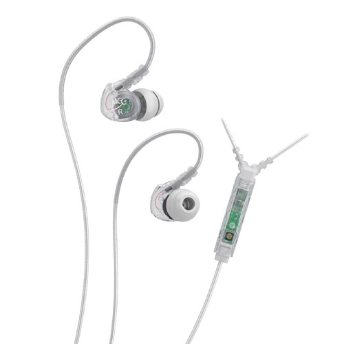 Meelectronics Sport-Fi M6P Noise Isolating In-Ear Headphone With Microphone, Remote And Universal Volume Control, Clear