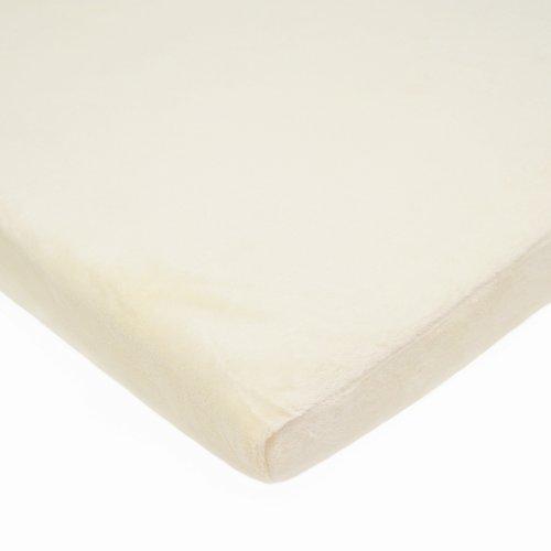 American Baby Company Heavenly Soft Chenille Cradle Sheet, Ecru