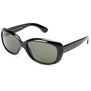 Ray-Ban Women's 4101 Jackie Ohh Sunglasses,Black Frame/G-15 XLT Lens,58 mm