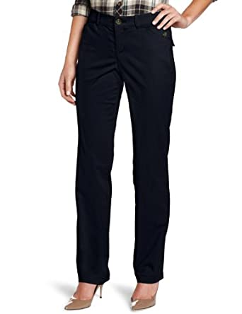 Dockers Women's Petite Continental Hello Smooth Pant, Navy, 10 Medium