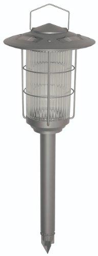 Brinkmann 822-1511-2 Round Lantern Solar Light Set Silver, 2-Pack