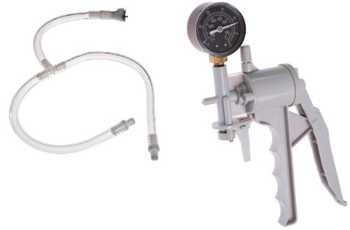 31G5rLGAN9L. SL500  The Phenom Hand Operated Ergonomic Design Vacuum Pump with Pressure Gauge Dual Calibration with Dual Twin Buddy 2 Two Way Connector Hose for use of Two Cylinders at the Same Time