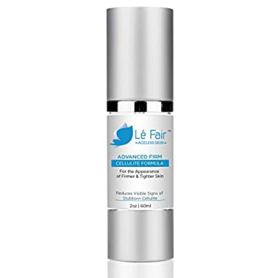 Cellulite Cream - Le Fair Advanced Firm Cellulite Formula - Reduces Visible Signs of Ugly Cellulite & Fat Deposits - Firmer & Tighter Skin - Great For Full Body Use!