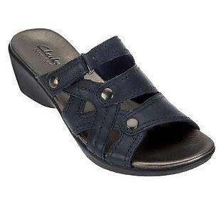 """Women's Clarks Sandals """"Ella Fusion"""" - Blue (8, Blue)"""