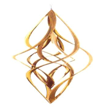 Double Helix Copper Wind Spinner 14""