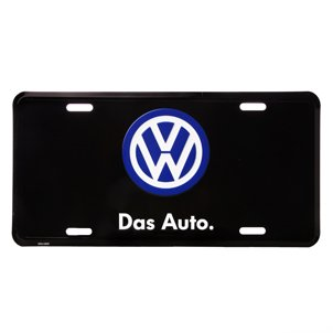 VW DAS AUTO LICENSE PLATE