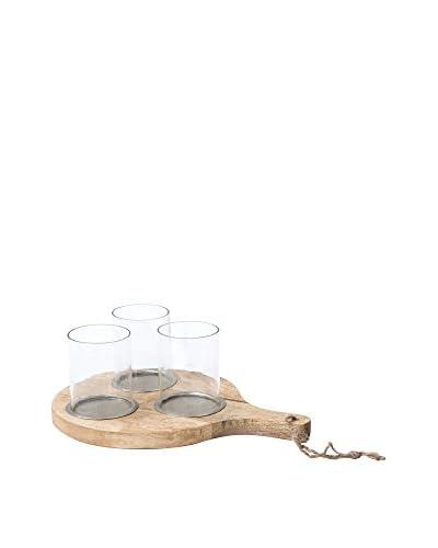 Home Ideas Brett mit Kerzenhälter