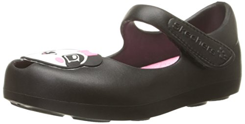 Skechers Kids Paw Princess EVA Mary Jane (Toddler), Black/White/Pink, 8 M US Toddler