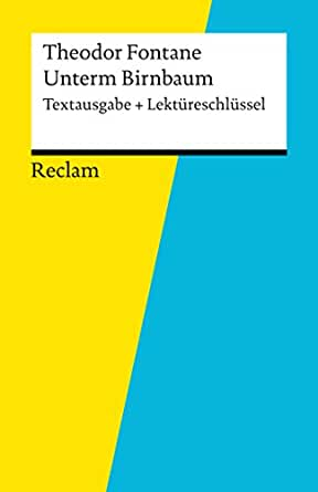 Amazon.com: Textausgabe + Lektüreschlüssel. Theodor Fontane: Unterm