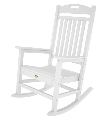 Black friday Trex Outdoor Furniture Yacht Club Rocker Chair Classic White Cy