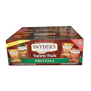 Snyders of Hanover Variety Pack Pretzel Snack Value Box, 36-Count