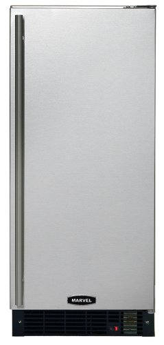 Marvel 25iM-BS-F-R 15-Inch Wide Under Counter Ice Machine Black Cabinet Full Stainles Steel Door Reviews