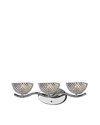 Artistic Lighting Contour Collection 3-Light Bath Bar, Polished Chrome