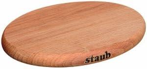 Staub Magnetischer Topfuntersetzer Holz, 21 x 15 cm
