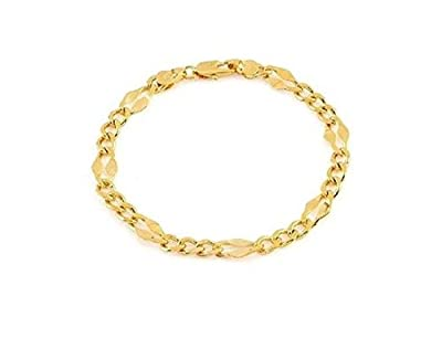 Simply Glamorous Jewellery And Gifts Shop - 9ct Gold Filled Diamond Cut Bracelet