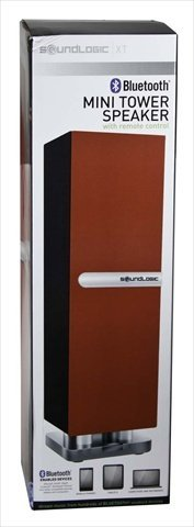 Sound Logic Mbtr-2/5967 Mini Bluetooth Tower Speaker, Red